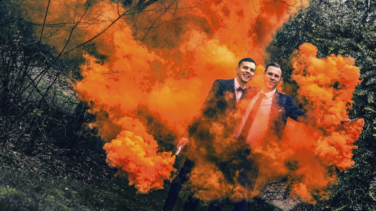 Fabian und Alex Hochzeit Queer Schwul Homosexuell Essen Der Ablichter